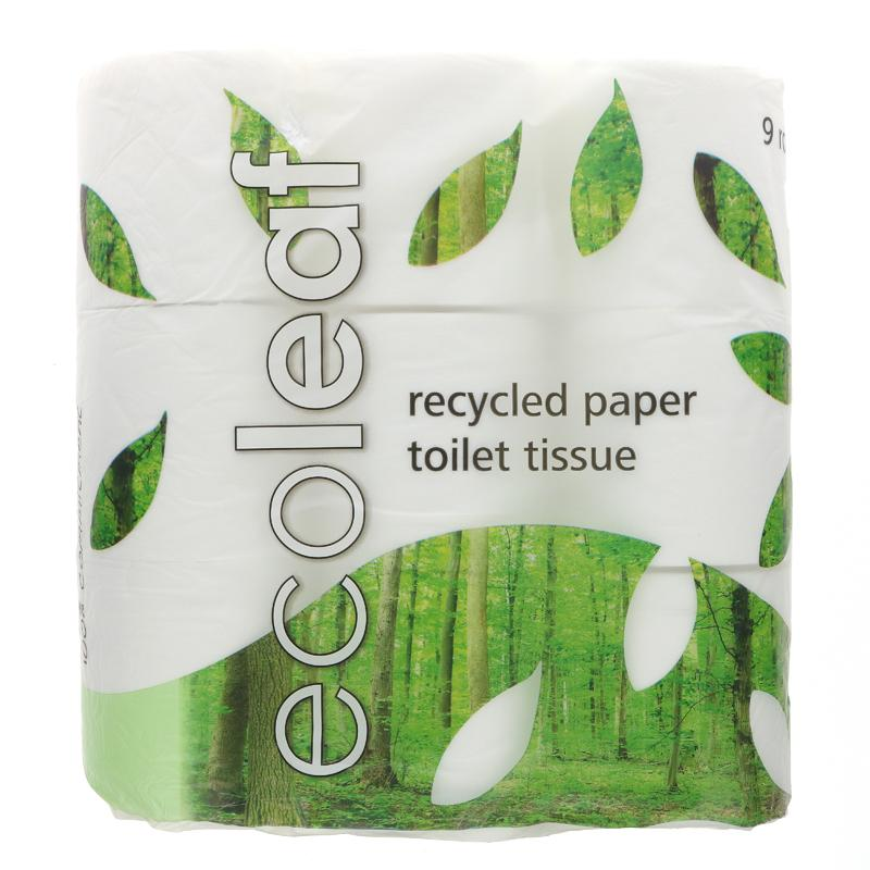 Ecoleaf Toilet Tissue 9 Pack