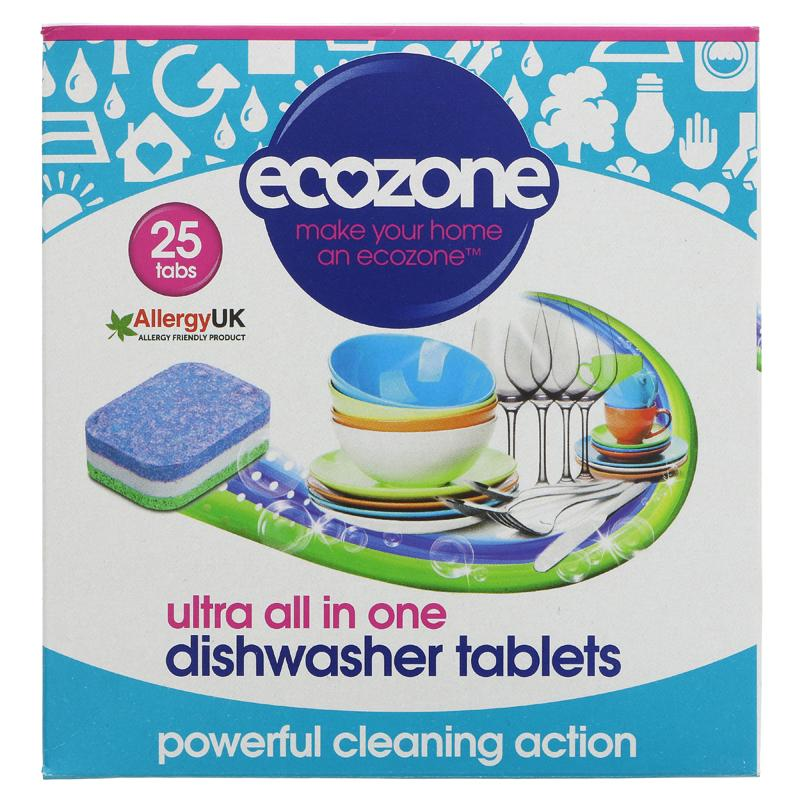 Ecozone Dishwasher Tablets All In One -  25 tabs