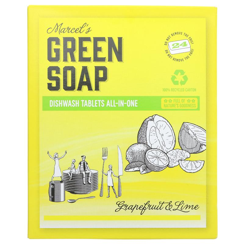 Green Soap Company Dishwasher Tablets Grapefruit & Lime  24 tablets