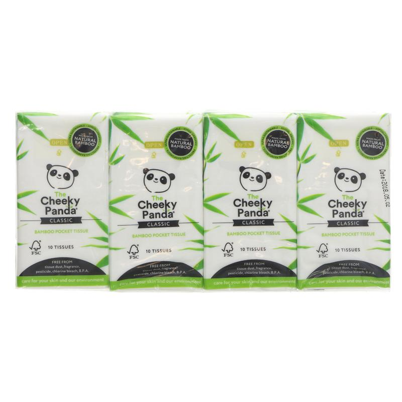 The Cheeky Panda Bamboo Pocket Facial Tissue - 8 Packs