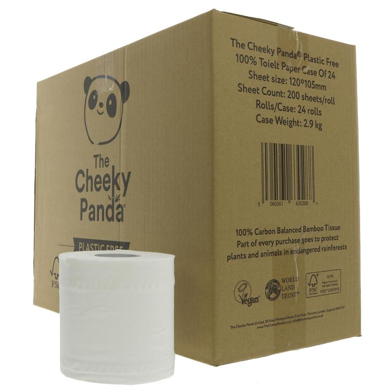 The Cheeky Panda Bamboo Toilet Tissue 24 Rolls