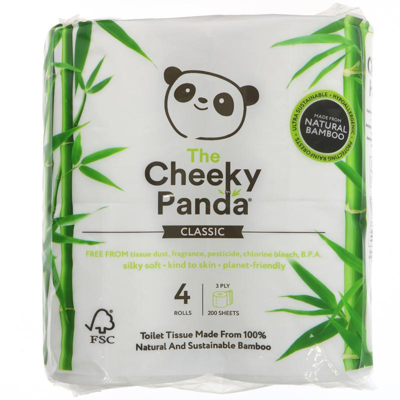 The Cheeky Panda Natural Bamboo Toilet Tissue 4 Rolls
