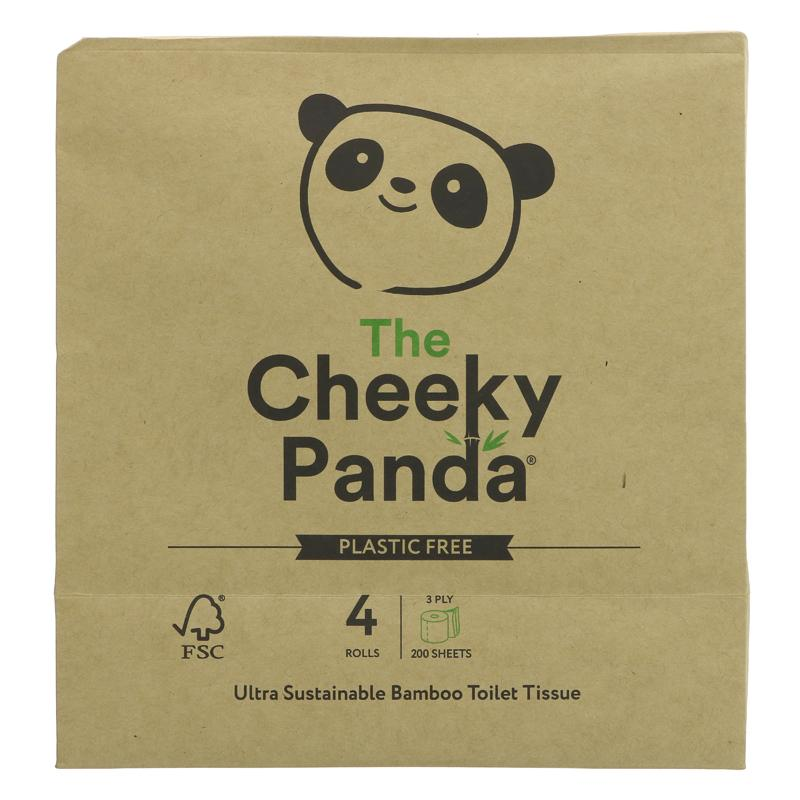 The Cheeky Panda Toilet Tissue 4 Pack  Plastic Free